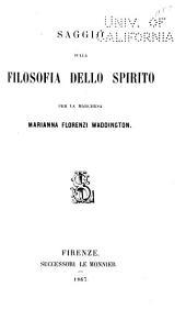 Saggio sulla filosofia dello spirito