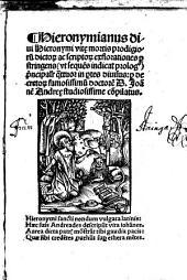 Hieronymianus: in 4 partes divisus