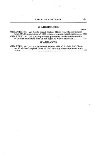 Laws Passed at the     Session of the Legislature PDF