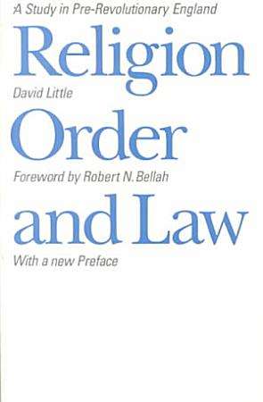 Religion  Order  and Law PDF