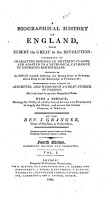 A Biographical History of England  from Egbert the Great to the Revolution PDF