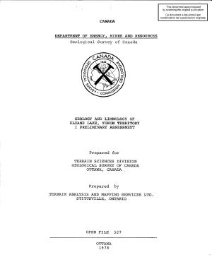 Geological Survey of Canada  Open File 527 PDF