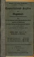 Conversations Lexikon der Gegenwart PDF