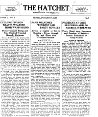 The Hatchet  Published on the High Seas   A Daily Newspaper on the Way to France  PDF
