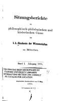 Sitzungsberichte der Philosophisch Philologischen und Historischen Classe der K B  Akademie der Wissenschaften zu M  nchen PDF