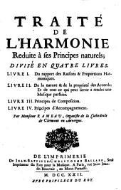 Du rapport des raisons & proportions harmoniques
