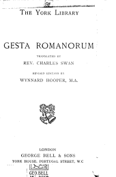 A record of ancient histories, entituled in Latine, Gesta Romanorum