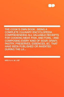 The Cook s Own Book PDF
