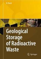Geological Storage of Highly Radioactive Waste PDF