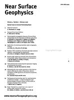 Near Surface Geophysics PDF