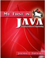 My First In Java PDF