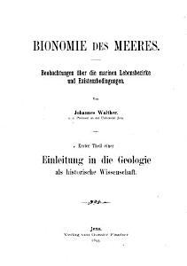 Einleitung in die geologie als historische wissenschaft PDF