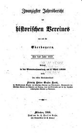 Jahres-bericht des Historischen vereines von Oberbayern: Bände 20-22