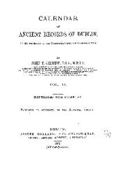 Calendar of Ancient Records of Dublin: In the Possession of the Municipal Corporation of that City, Volume 2