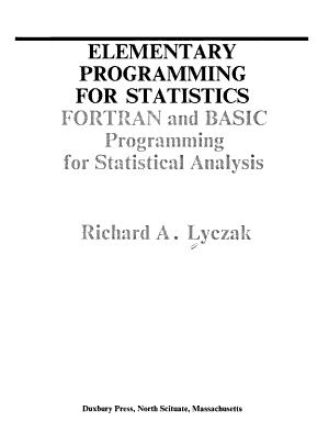 Elementary Programming for Statistics PDF