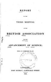 Report of the ... Meeting of the British Association for the Advancement of Science: Volume 3