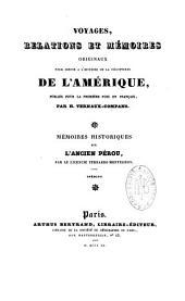 Mémoires historiques sur l'ancien Pérou : inédits