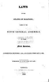 Laws of the State of Illinois: Passed by the ... General Assembly at Their ... Session