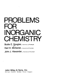 Concepts and Models of Inorganic Chemistry  Problems PDF