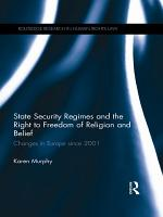State Security Regimes and the Right to Freedom of Religion and Belief PDF
