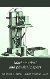 Mathematical and Physical Papers: Volume 2