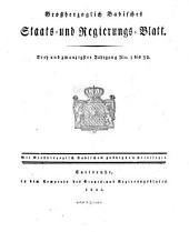 Grossherzoglich-Badisches Staats- und Regierungs-Blatt: Band 23