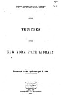 Annual Report of the Trustees of the State Library of the State of New York PDF