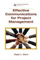 Effective Communications for Project Management PDF