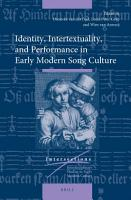 Identity  Intertextuality  and Performance in Early Modern Song Culture PDF
