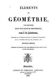 Eléments de géométrie: avec des notes, suivis d'un traite de trigonométrie