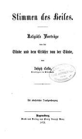 Franz Xaver Wohlmann's Fastenpredigten über die Bestimmung des Menschen