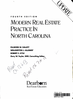 Modern Real Estate Practice in North Carolina PDF