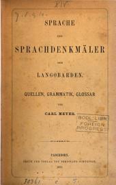Sprache und Sprachdenkmäler der Langobarden