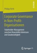 Corporate Governance in Non Profit Organisationen PDF