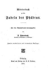 Wörterbuch zu den Fabeln des Phädrus