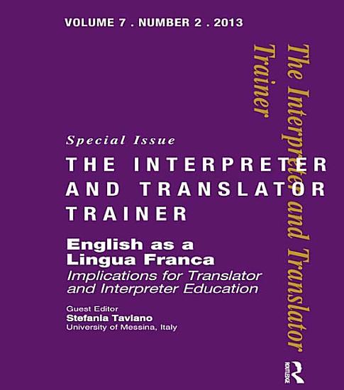 English as a Lingua Franca PDF