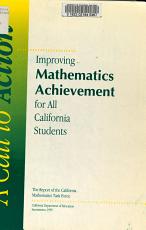 Improving Mathematics Achievement for All California Students PDF