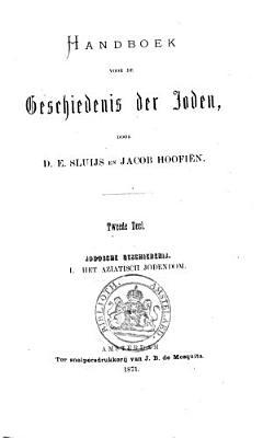 Handboek voor de geschiedenis der Joden PDF