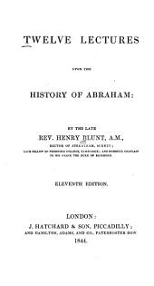 Twelve Lectures Upon the History of Abraham