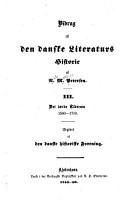 Bidrag til den danske literaturs historie  Det l  rde tidsrum 1560 1710 PDF