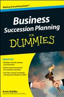 Business Succession Planning For Dummies PDF