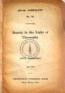 Beauty in the Light of Theosophy