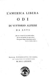 L'America libera odi di Vittorio Alfieri da Asti