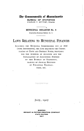 Extracts from the General Laws: Issues 5-6; Issue 8