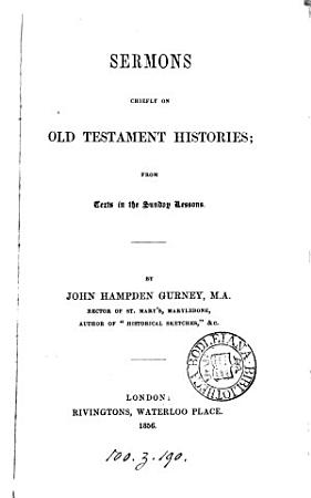 Sermons chiefly on Old Testament Histories PDF
