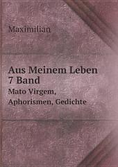 Aus Meinem Leben, 7 Band