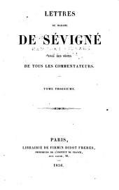 Lettres de Madame De Sévigné: Volume3