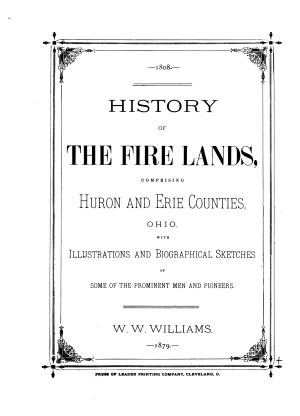 History of the Fire Lands PDF