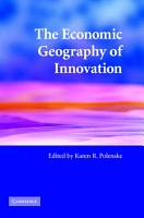 The Economic Geography of Innovation PDF