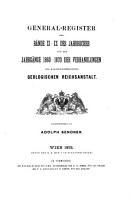 General Register der B  nde 11 20  des Jahrbuches und der Jahrgange 1860 70  der Verhandlungen PDF